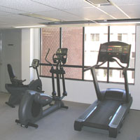 fitness and weight room